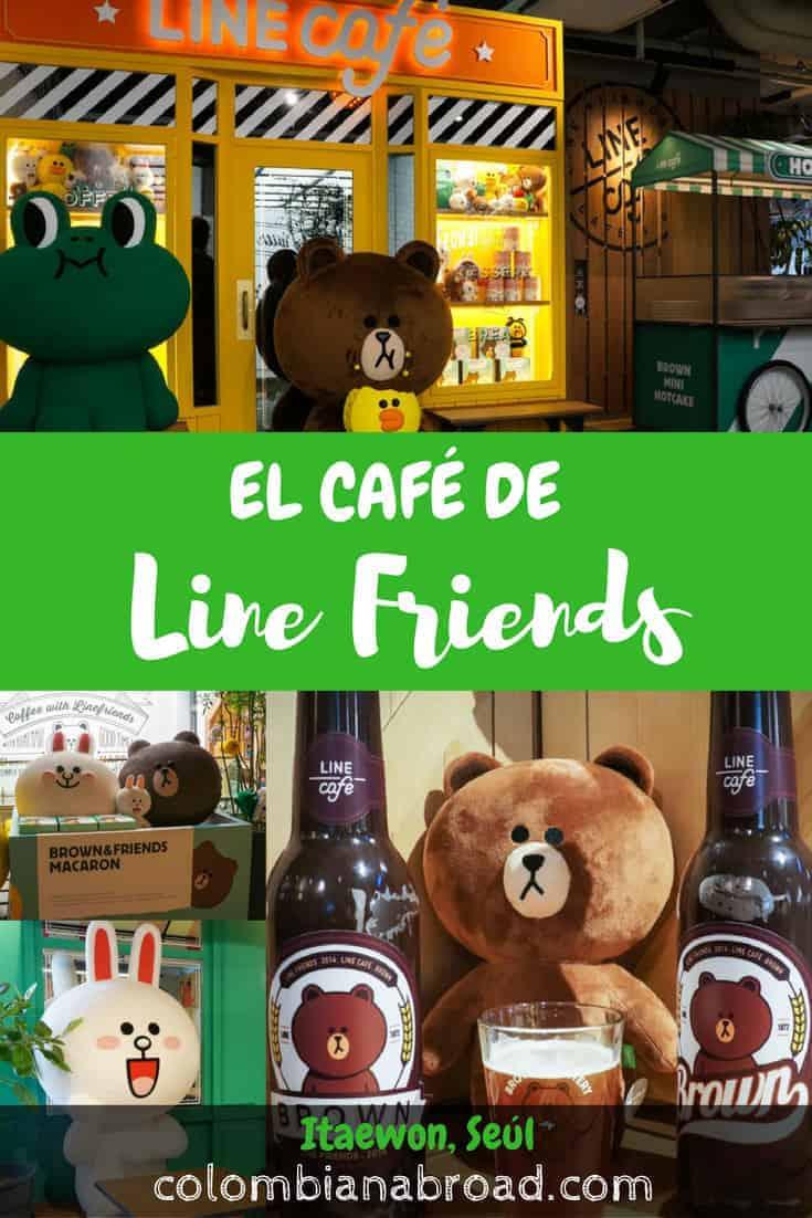 El café de Line Friends está ubicado en el barrio internacional de Seúl, Itaewon. Visita la tienda y de paso toma café acompañado de los Line Friends.