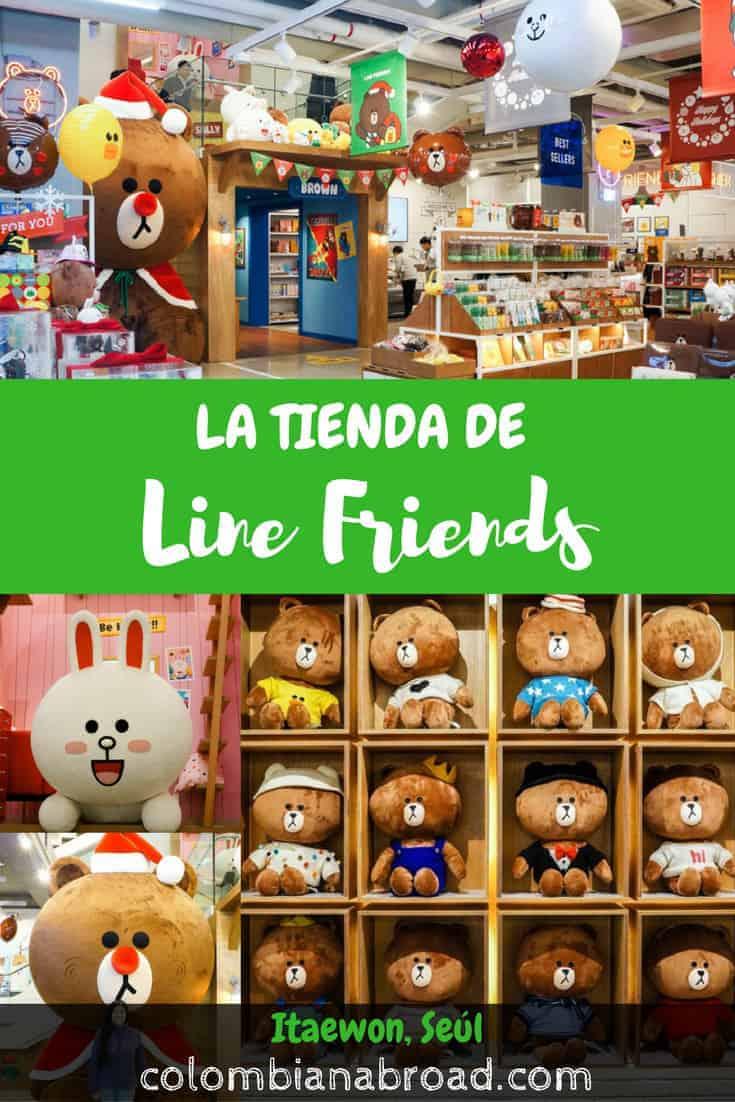 En el barrio internacional de Seúl, Itaewon, se encuentra la tienda más grande de los Line Friends. ¡Visítala durante tu paso por Seúl!