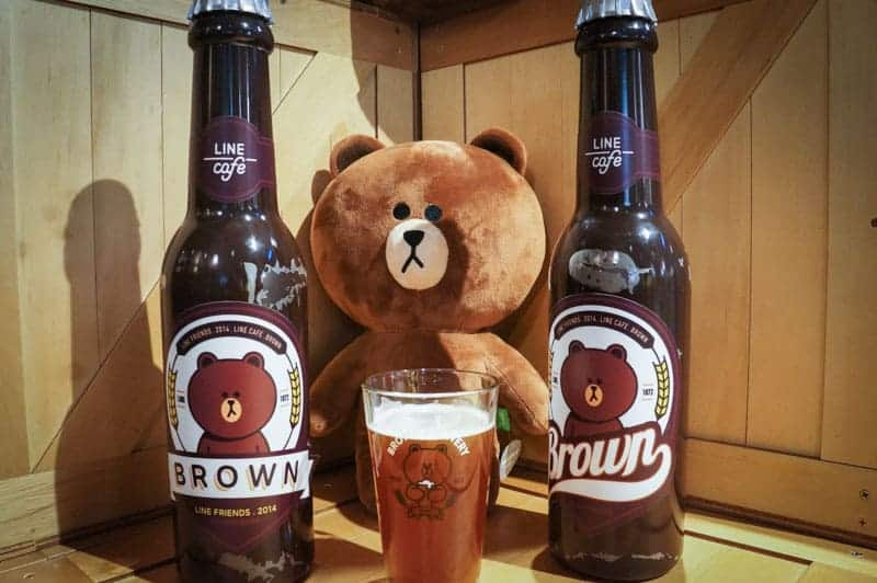 line-cafe-cerveza-brown