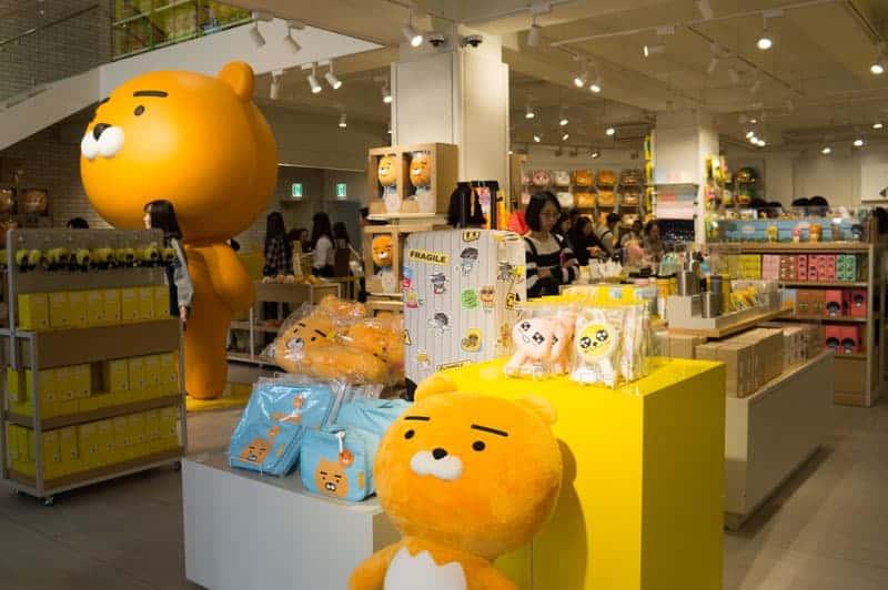 Tienda de Kakao Friends en Corea