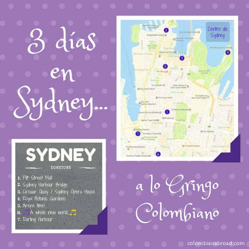 Itinerario 3 días en Sydney con retoque gringo y colombiano