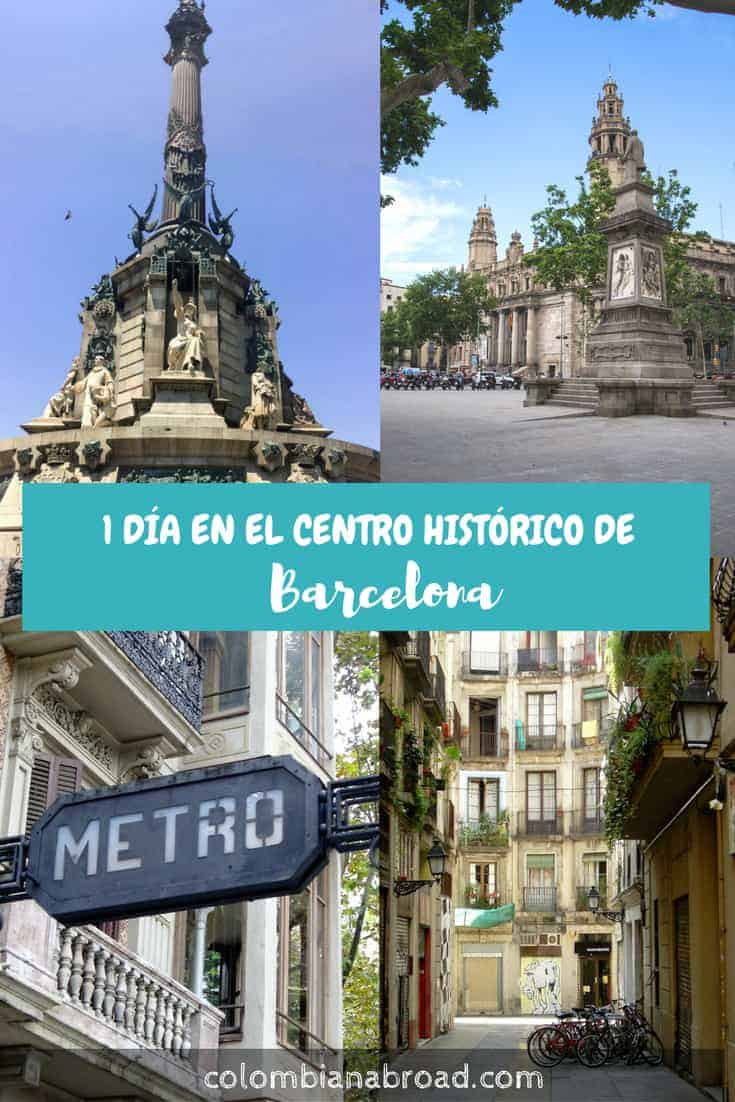 Itinerario de 1 día en el centro de Barcelona