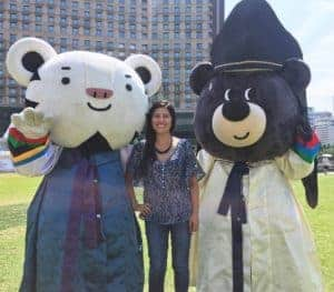 The 2018 Olympic Mascots Soohorang white tiger and Bandabi asianhellip