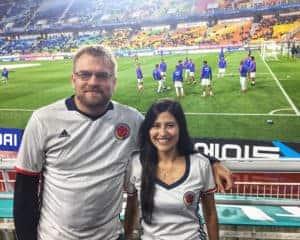 Hoy estuvimos apoyando la seleccin Colombia desde Corea Perdimos 21hellip
