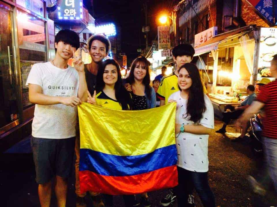 colombiana becada en Corea