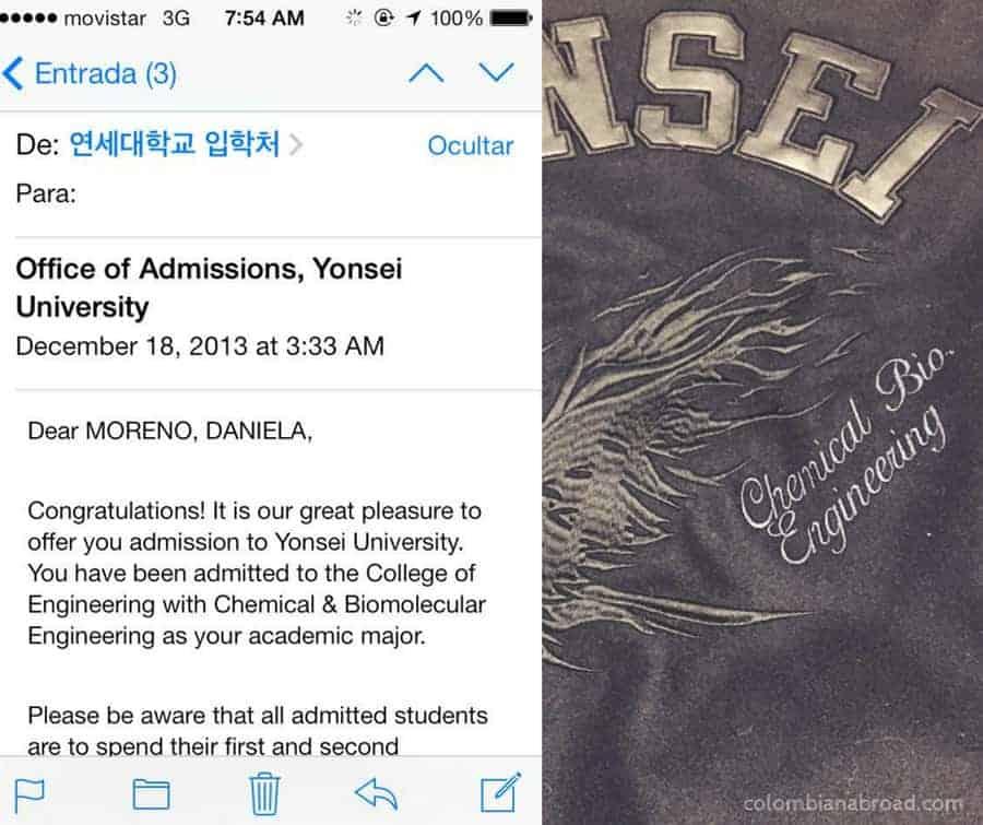 Beca en Corea Yonsei