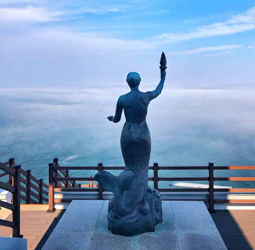 Vista al mar desde el faro de Taejongdae