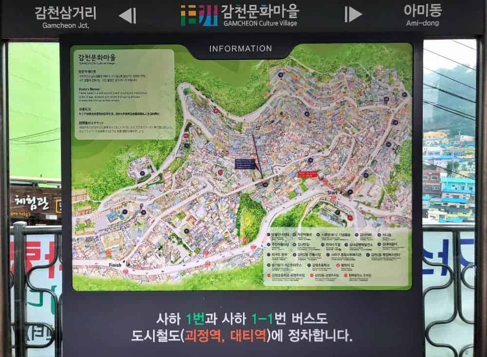 Mapa Gamcheon Culture Village