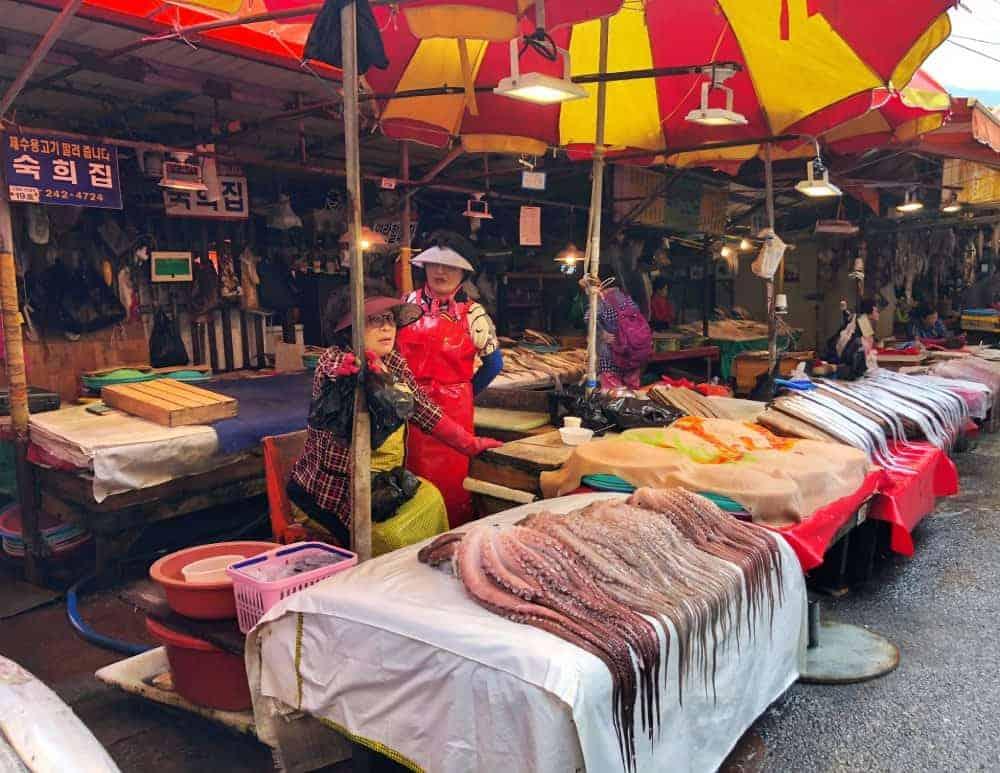 Coreanas en Jalgachi Market