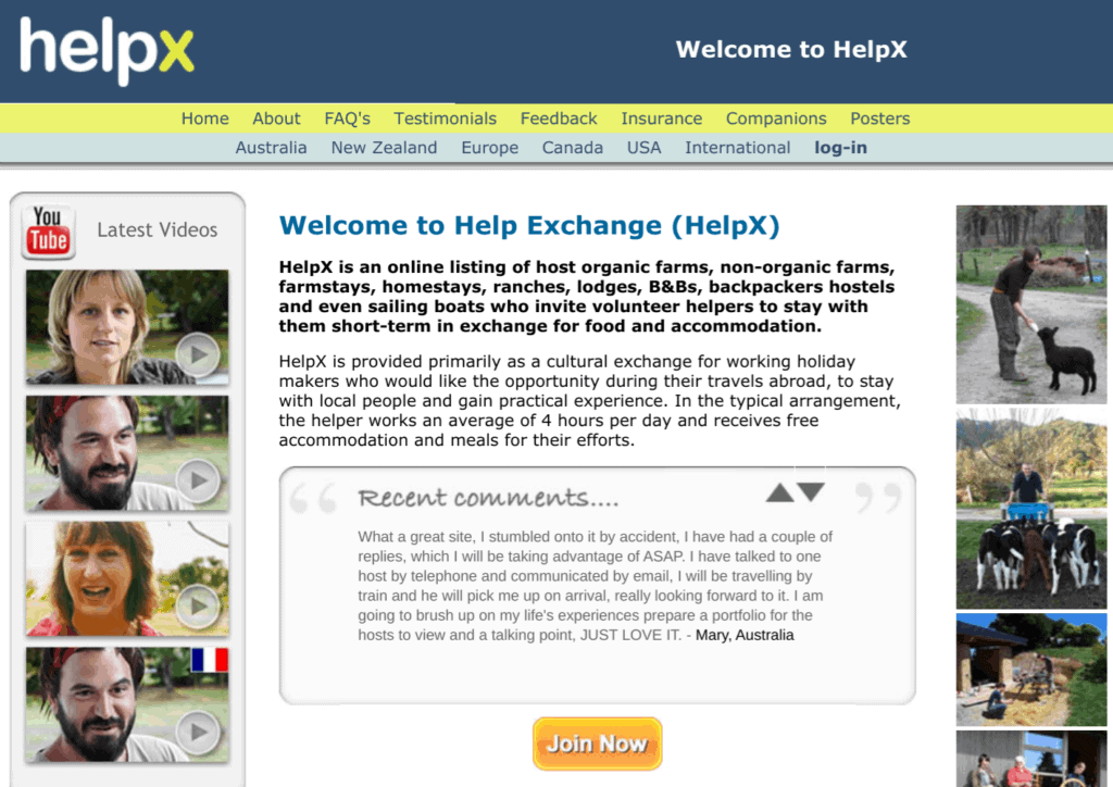 Consigue voluntariados con Helpx