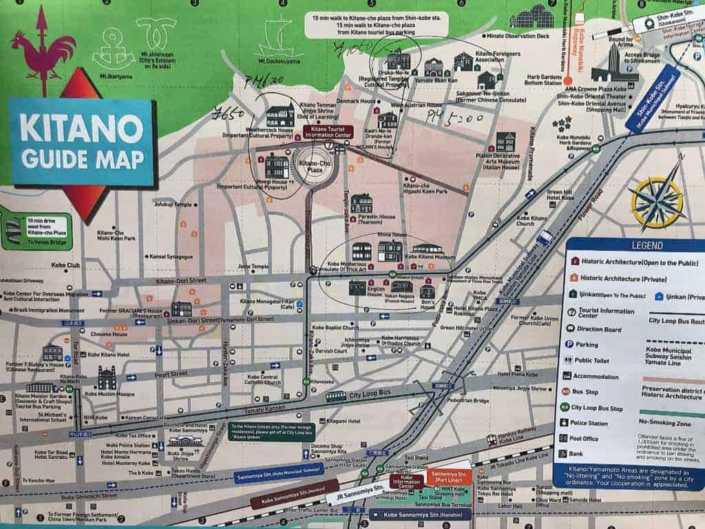 Kobe Kitano Mapa