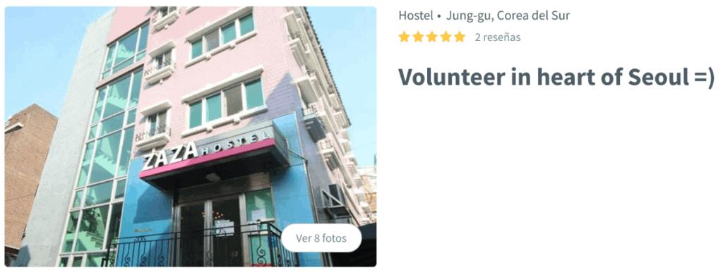 Voluntariado en Seúl a cambio de alojamiento