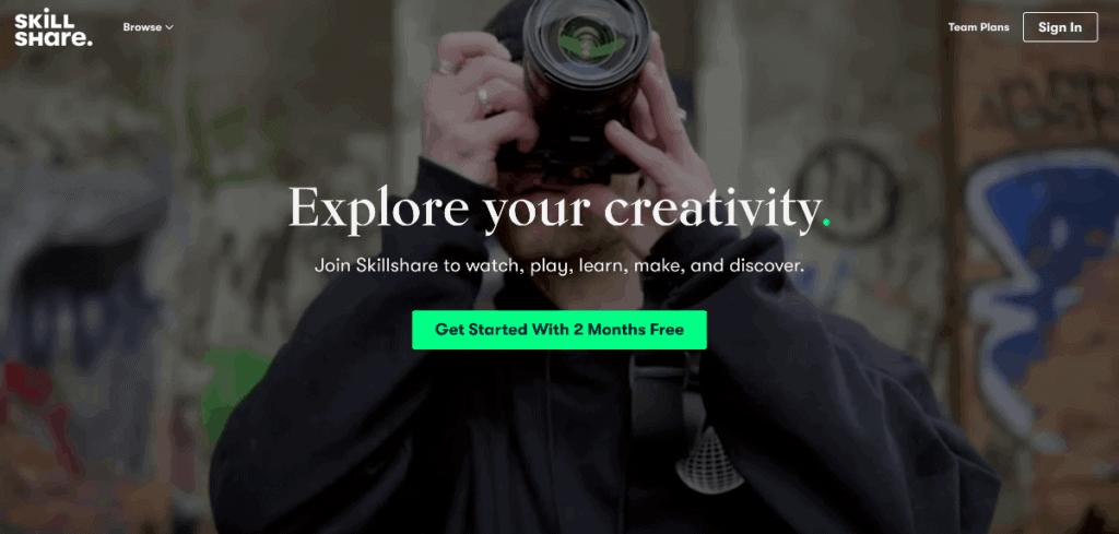 Cursos en línea Skillshare
