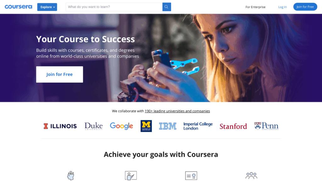 Cursos en línea Coursera