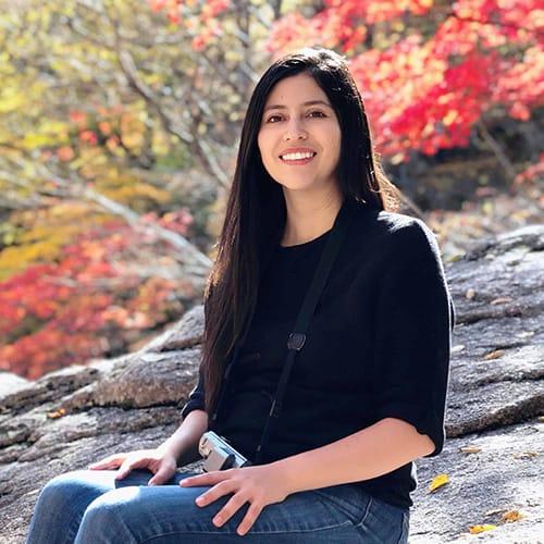 Andrea en Parque Seoraksan