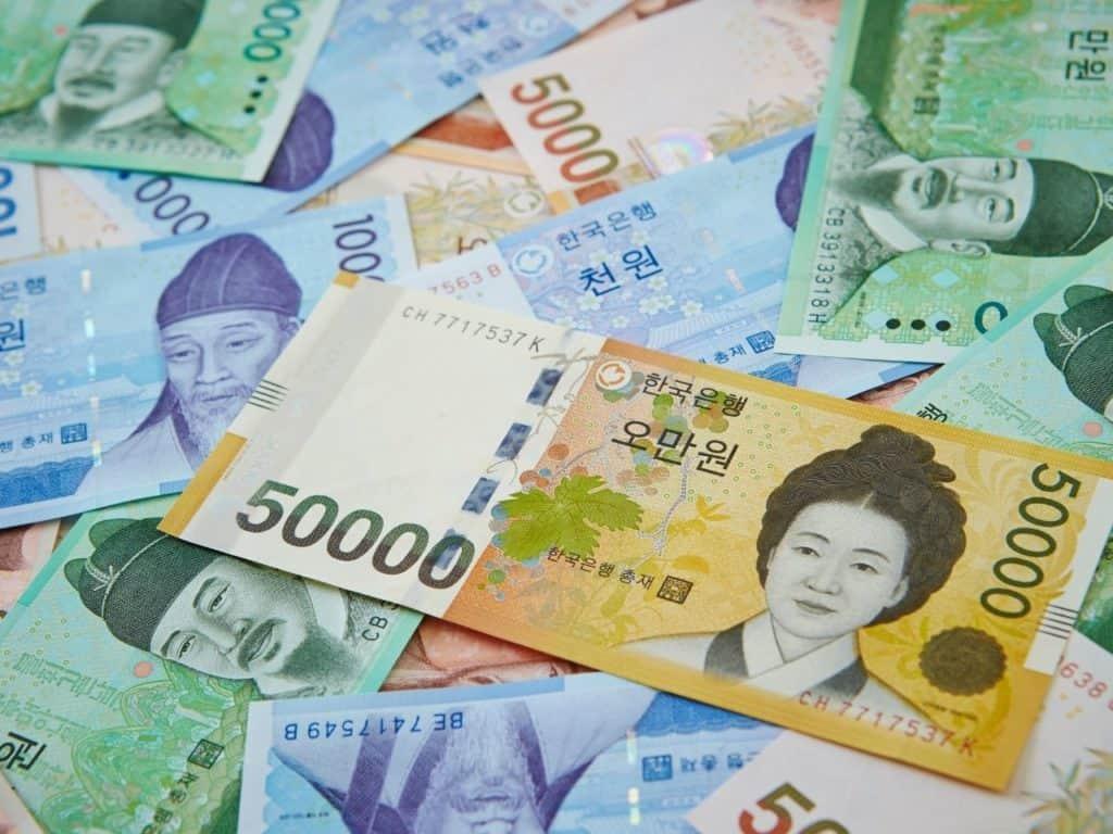 Billetes coreanos Won