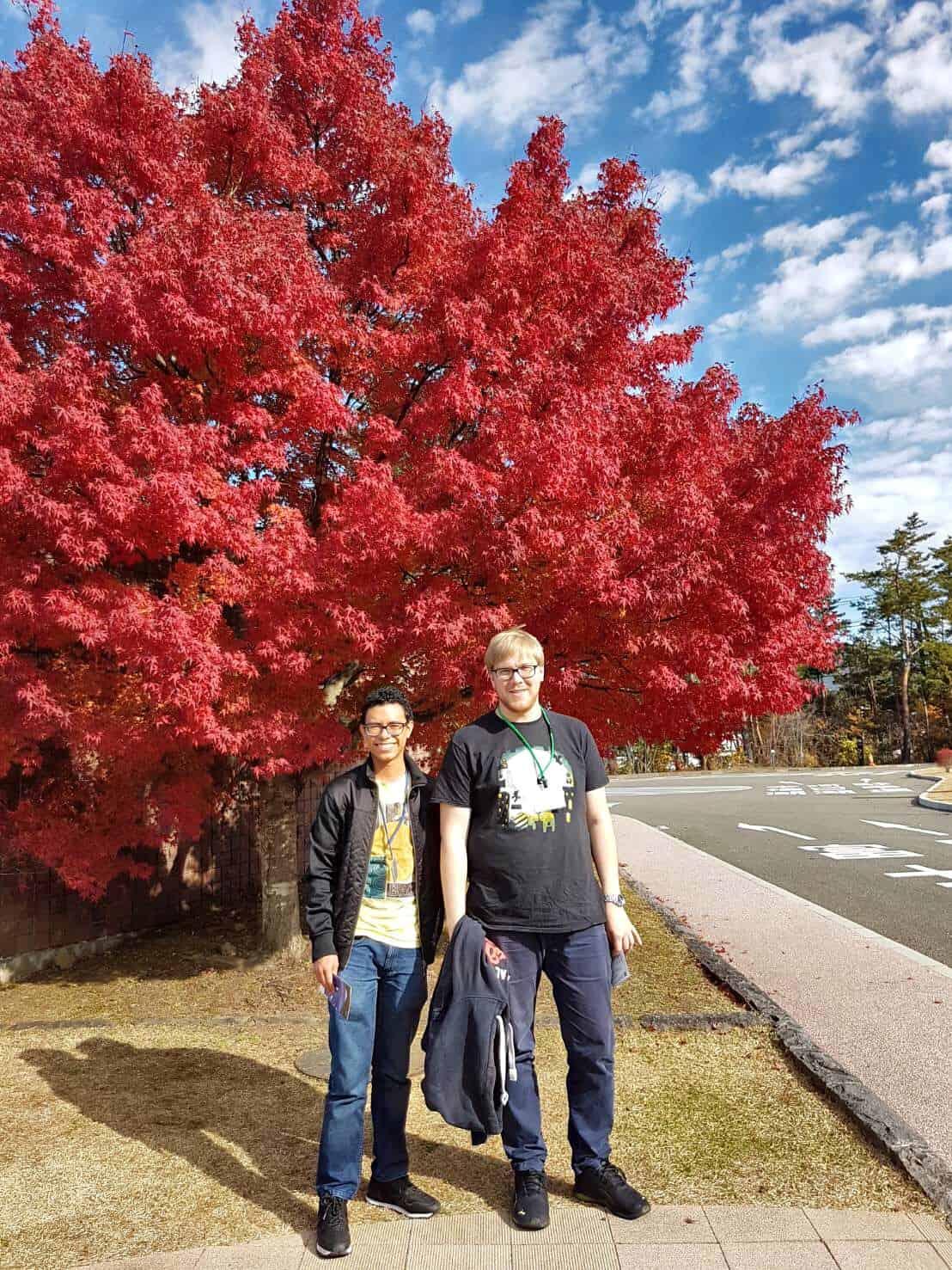 Estudiantes becados en Japón
