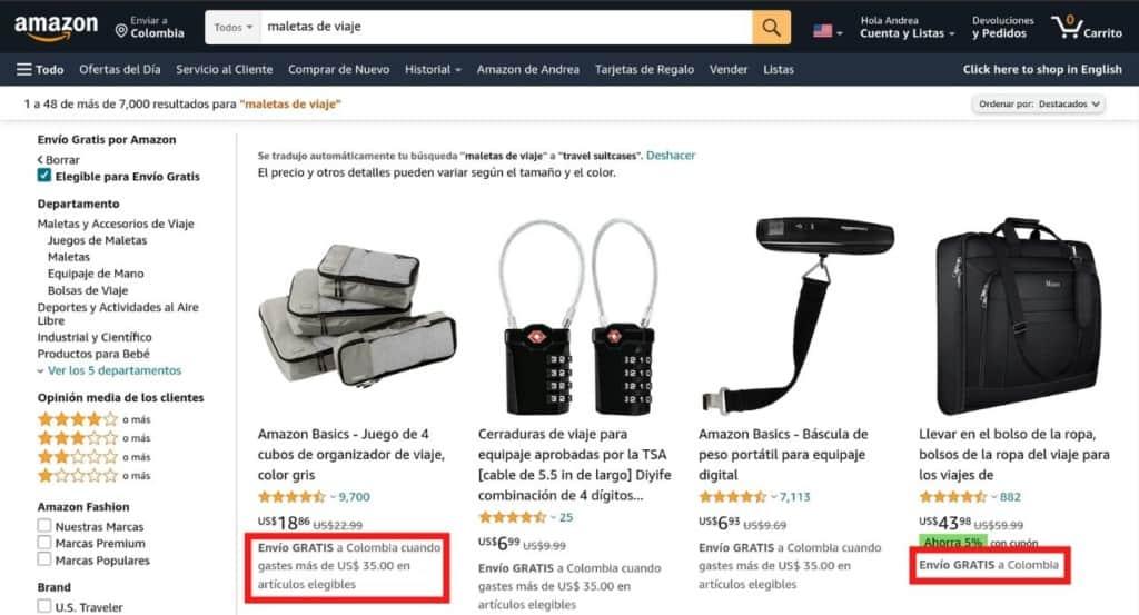 Comprar en Amazon desde Colombia con envío gratis