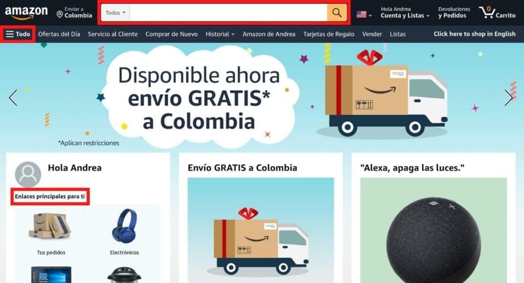 Cómo buscar productos en Amazon