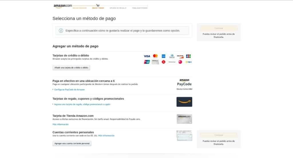 Cómo pagar en Amazon desde Colombia