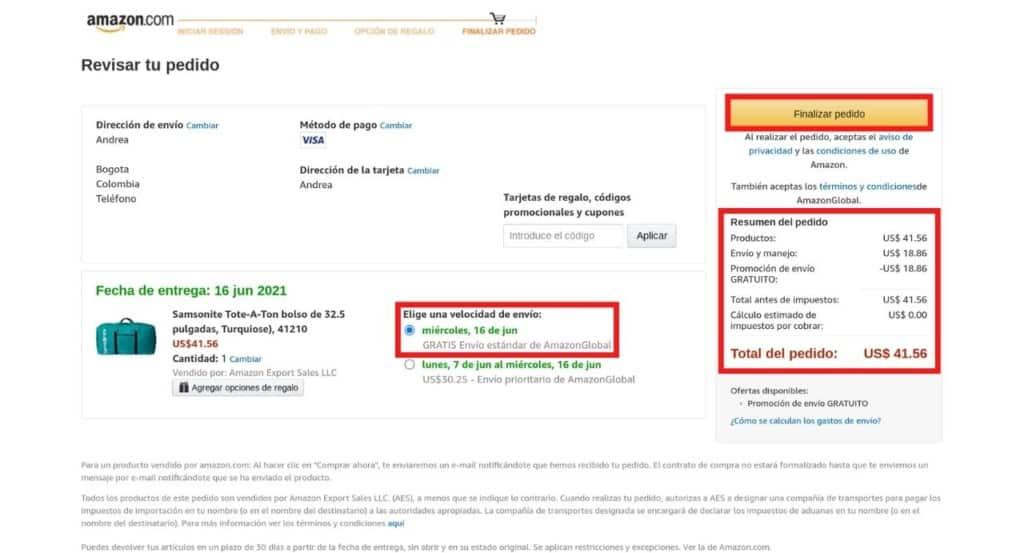 Comprar en Amazon desde Colombia