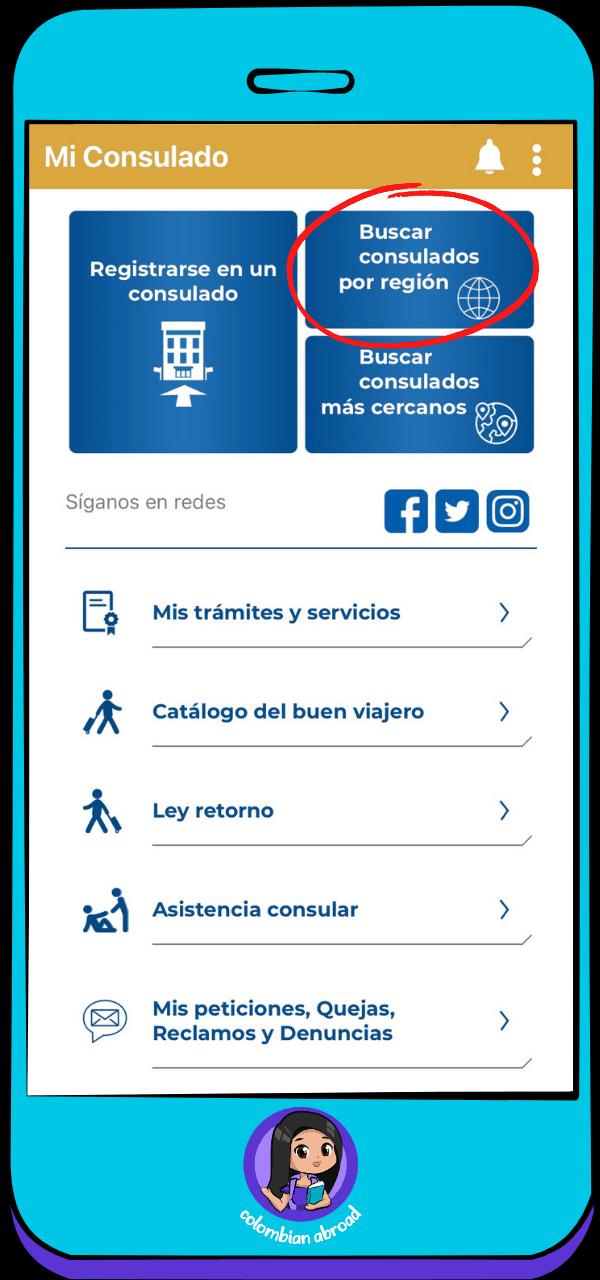 Mi Consulado App - Consulados